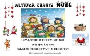 Flyer ALTIORA chante NOEL 2017